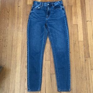 Dark blue American Eagle mom jeans